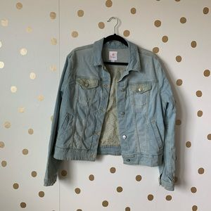 LuLaRoe Embroidered Denim Jacket Size XL